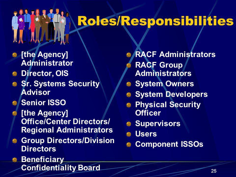 Roles/Responsibilities