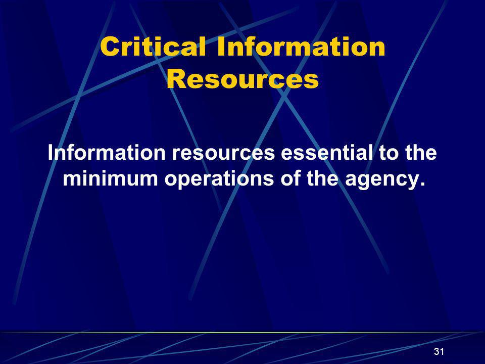 Critical Information Resources