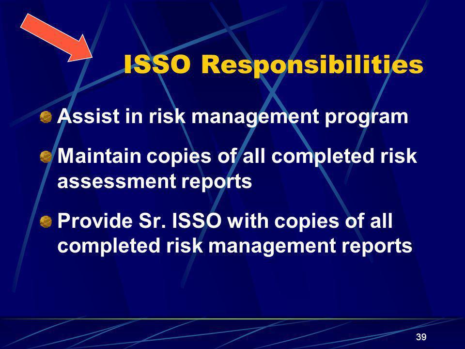 ISSO Responsibilities