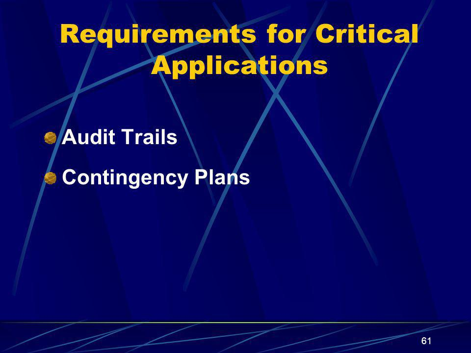 Requirements for Critical Applications