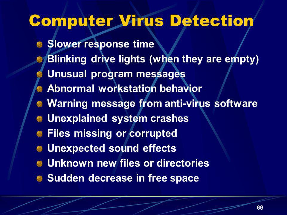 Computer Virus Detection