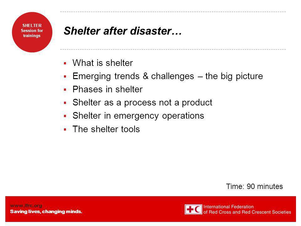 Shelter after disaster…