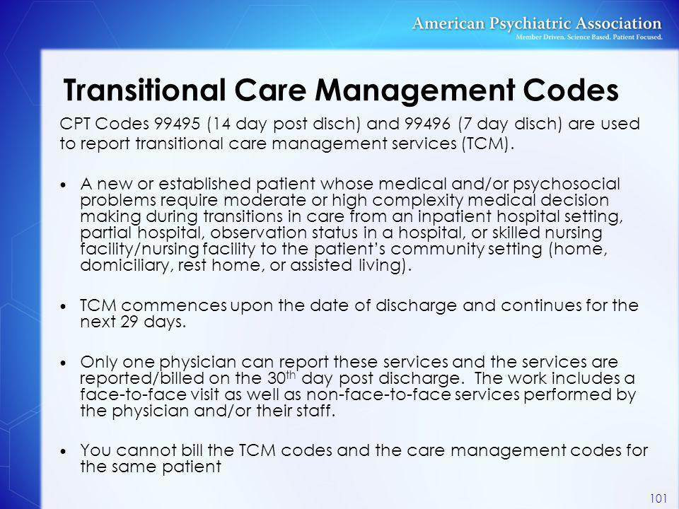 Transitional Care Management Codes