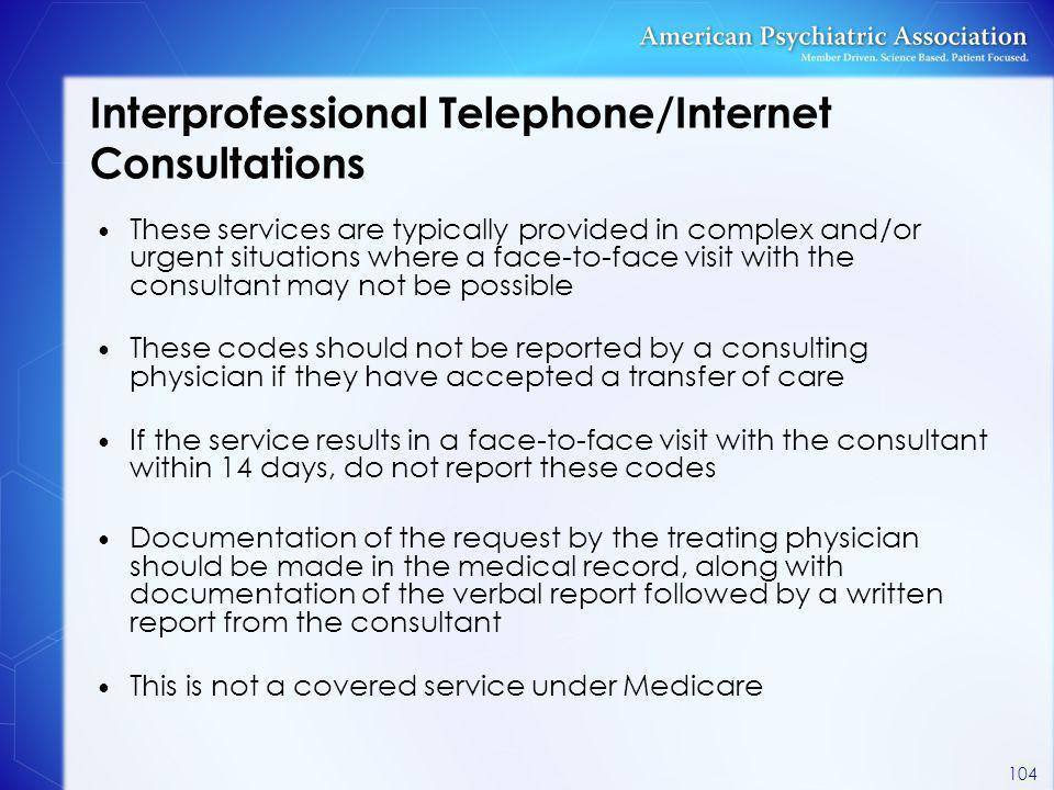 Interprofessional Telephone/Internet Consultations
