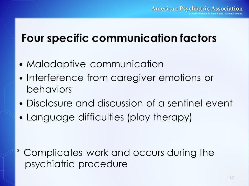 Four specific communication factors