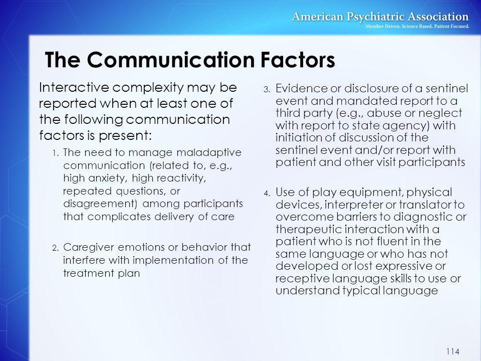 The Communication Factors