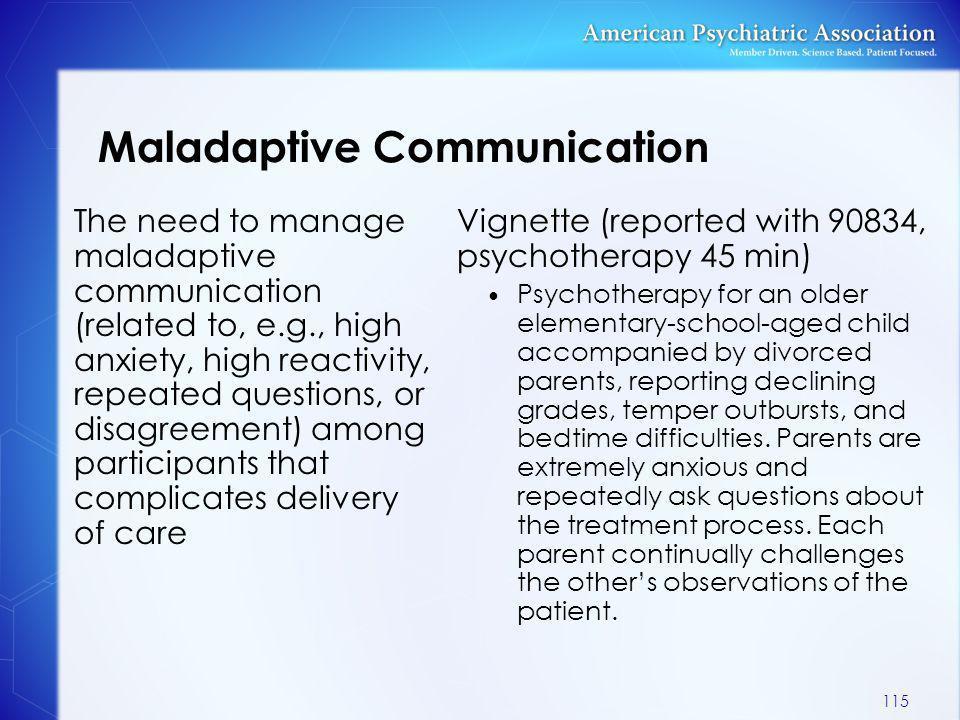 Maladaptive Communication