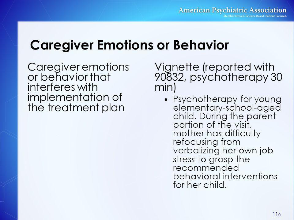 Caregiver Emotions or Behavior
