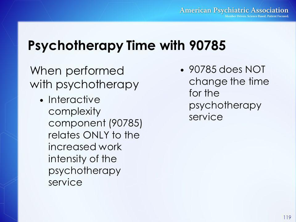 Psychotherapy Time with 90785