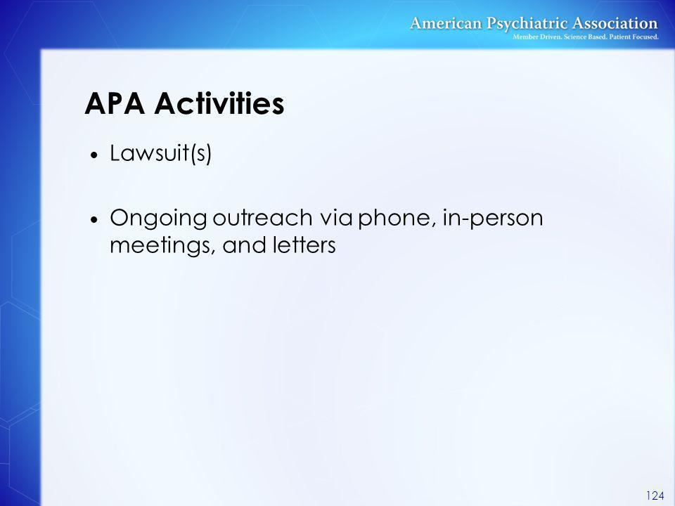 APA Activities Lawsuit(s)