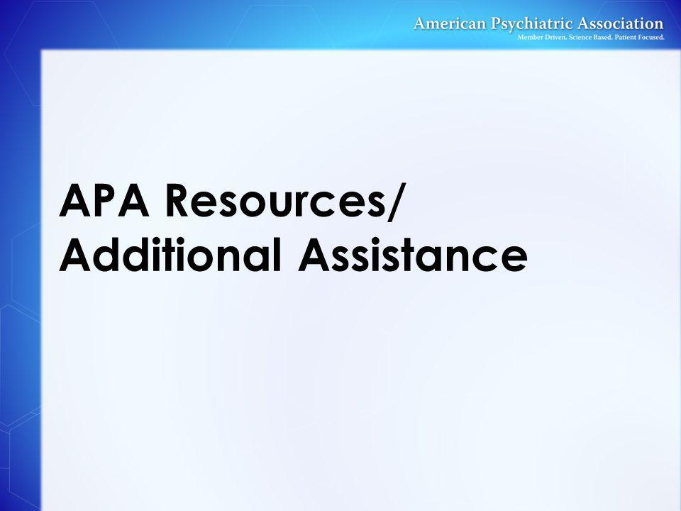APA Resources/ Additional Assistance