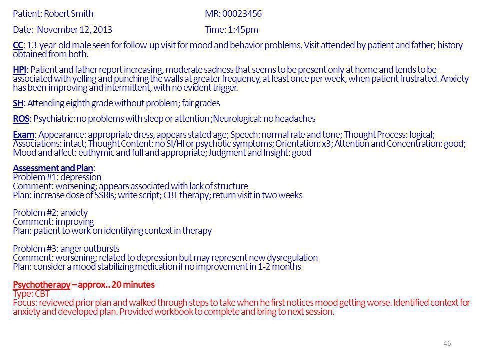 Patient: Robert Smith MR: 00023456