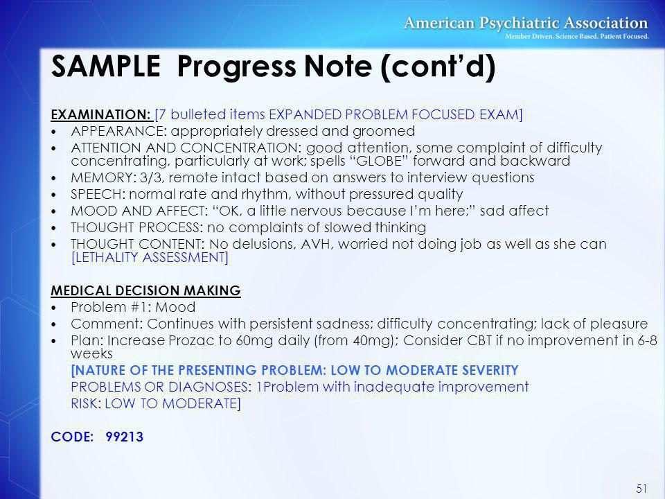 SAMPLE Progress Note (cont'd)