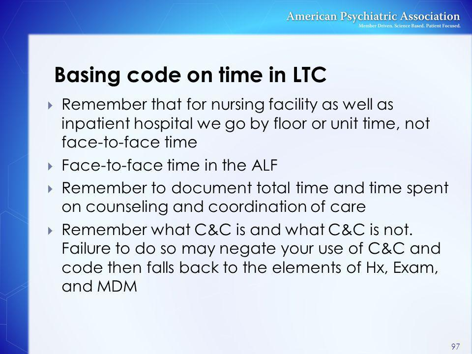 Basing code on time in LTC