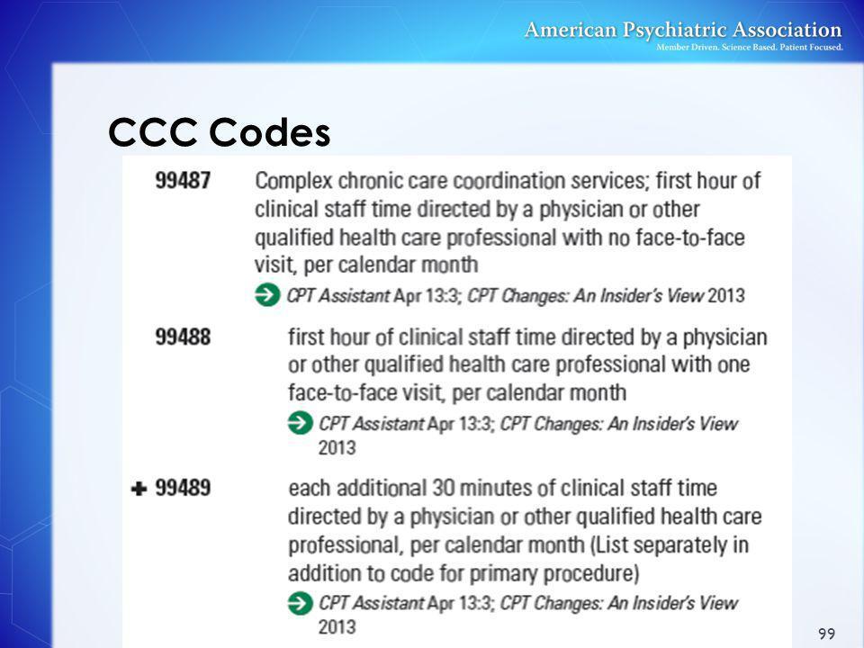 CCC Codes 99