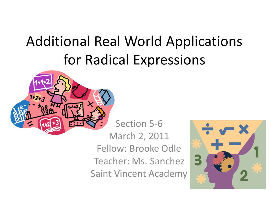 Additional Real World Applications for Radical Expressions