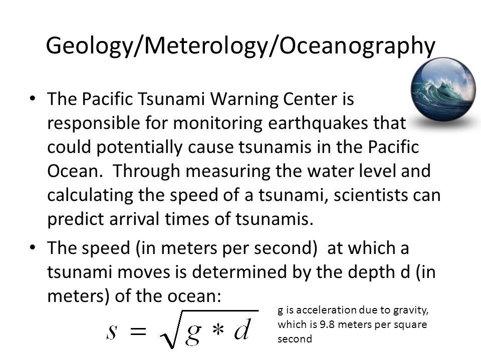 Geology/Meterology/Oceanography