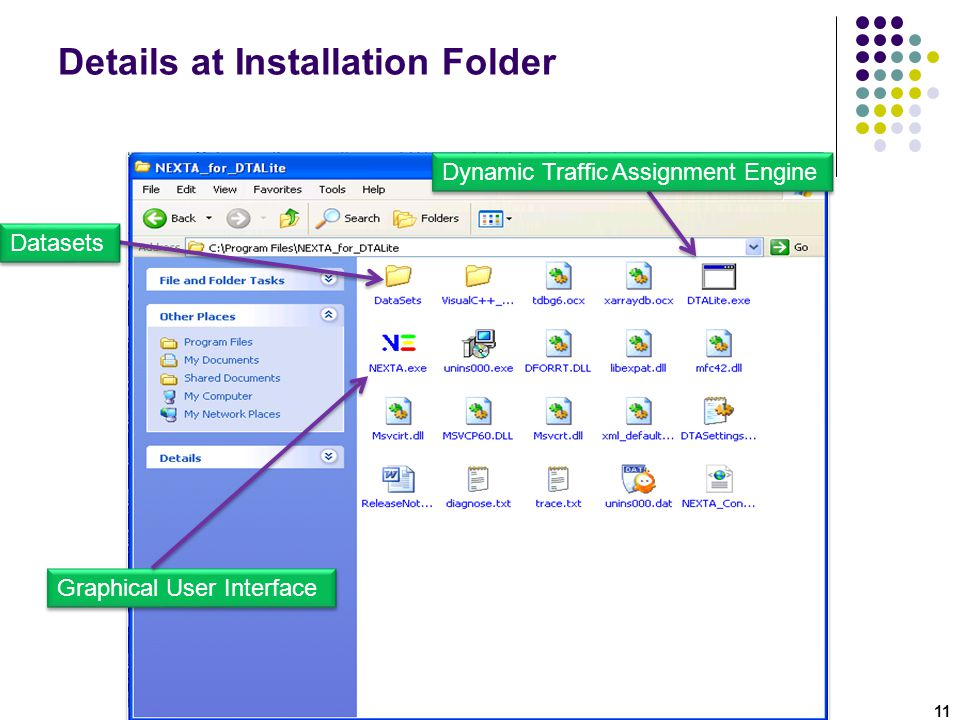 Details at Installation Folder