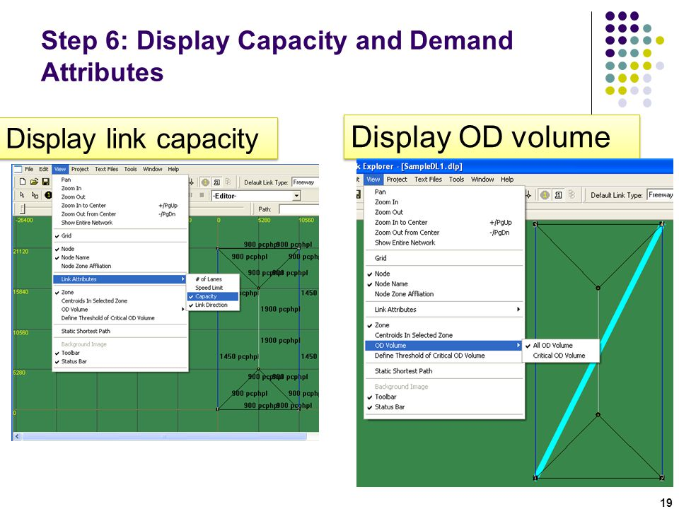 Step 6: Display Capacity and Demand Attributes