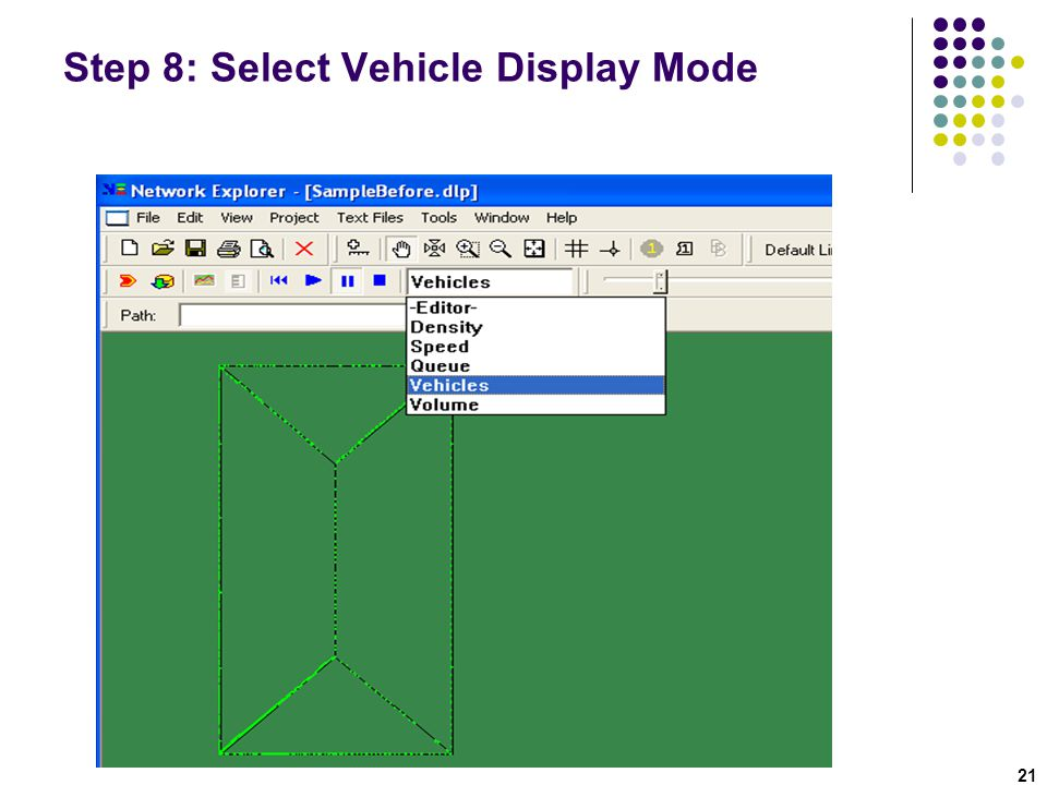 Step 8: Select Vehicle Display Mode