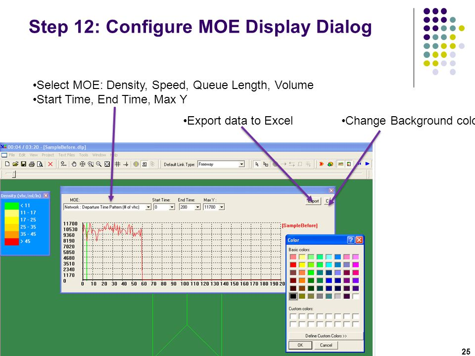 Step 12: Configure MOE Display Dialog