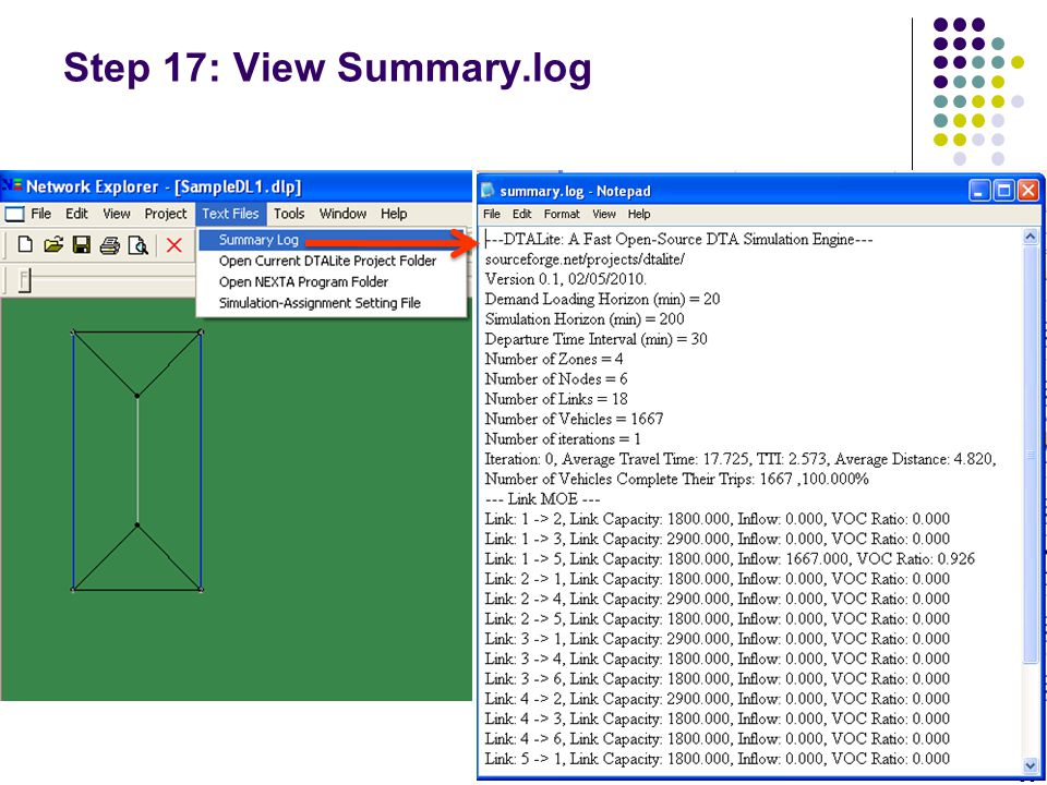 Step 17: View Summary.log
