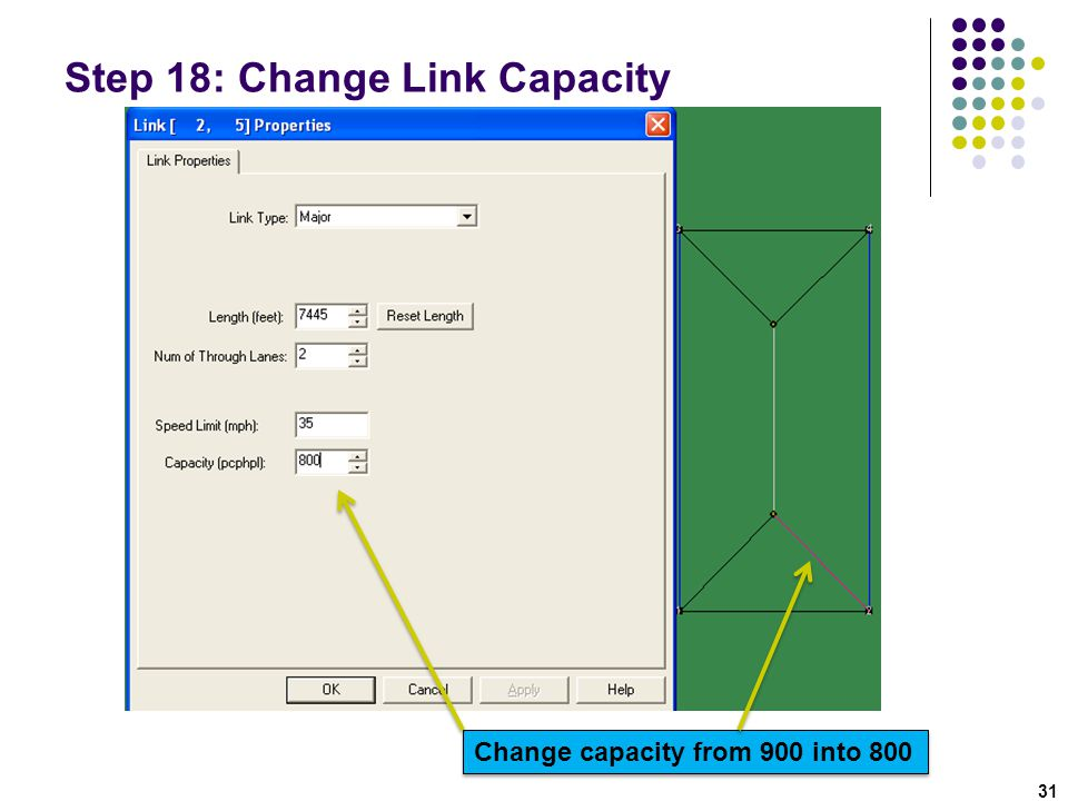 Step 18: Change Link Capacity