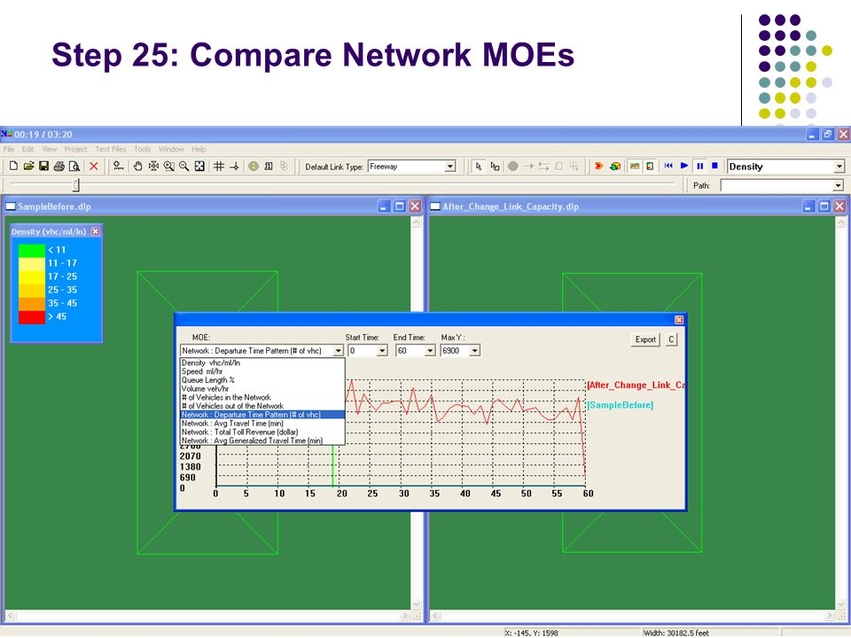 Step 25: Compare Network MOEs