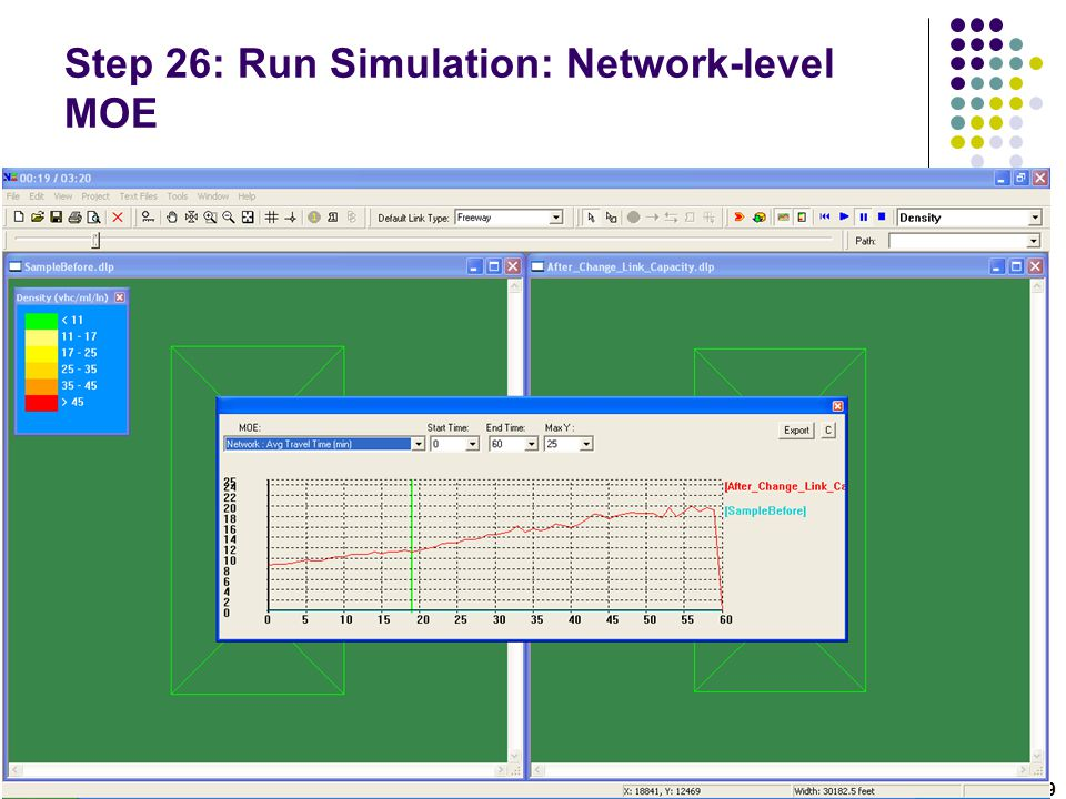 Step 26: Run Simulation: Network-level MOE