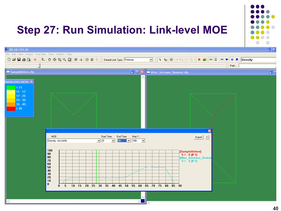 Step 27: Run Simulation: Link-level MOE