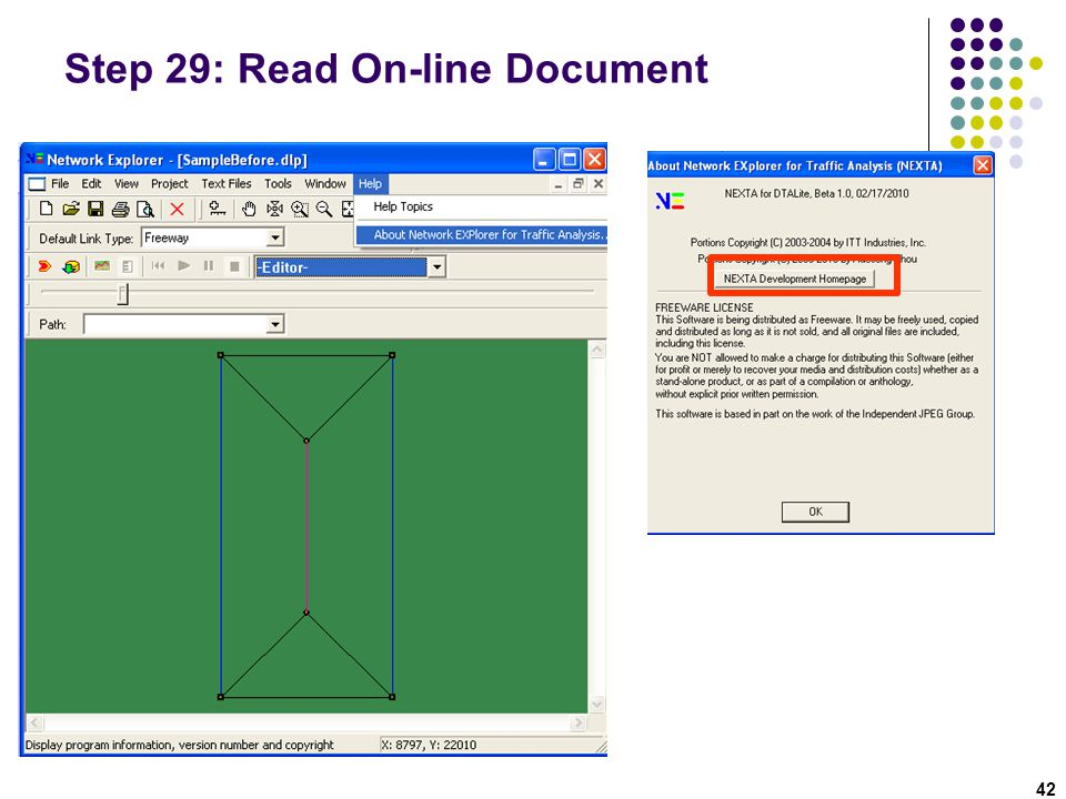 Step 29: Read On-line Document