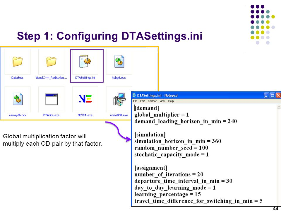 Step 1: Configuring DTASettings.ini