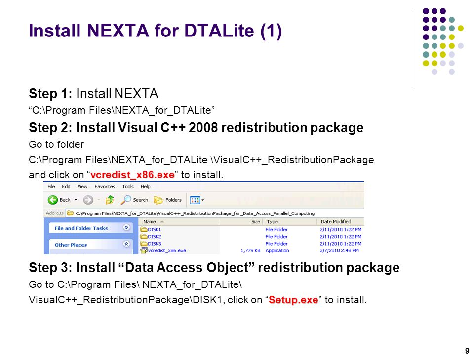 Install NEXTA for DTALite (1)
