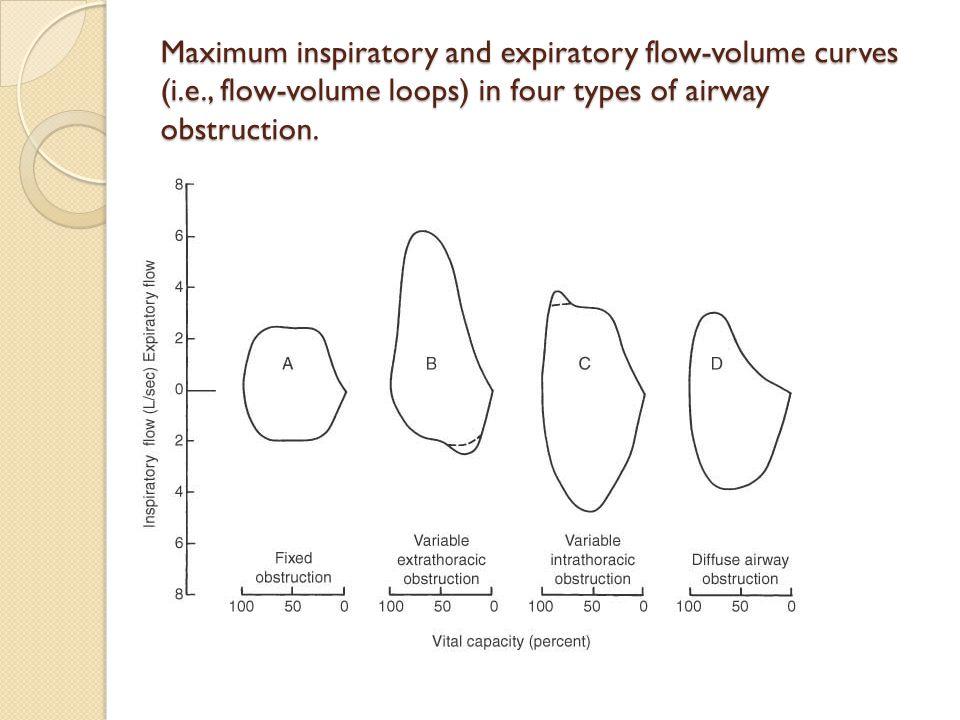 Maximum inspiratory and expiratory flow-volume curves (i. e