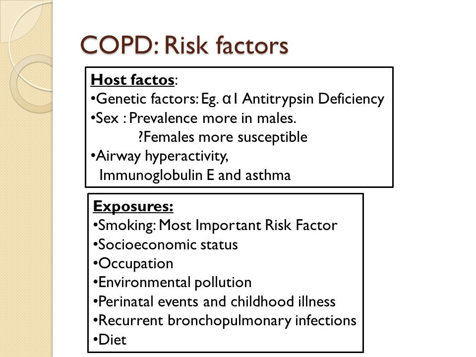 COPD: Risk factors Host factos: