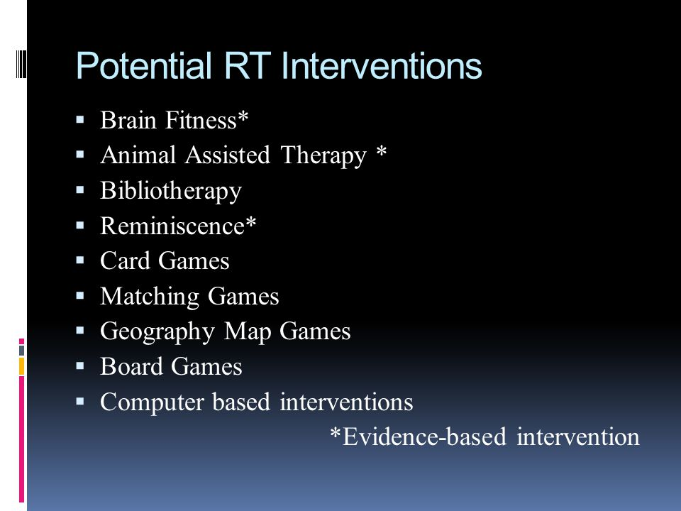 Potential RT Interventions