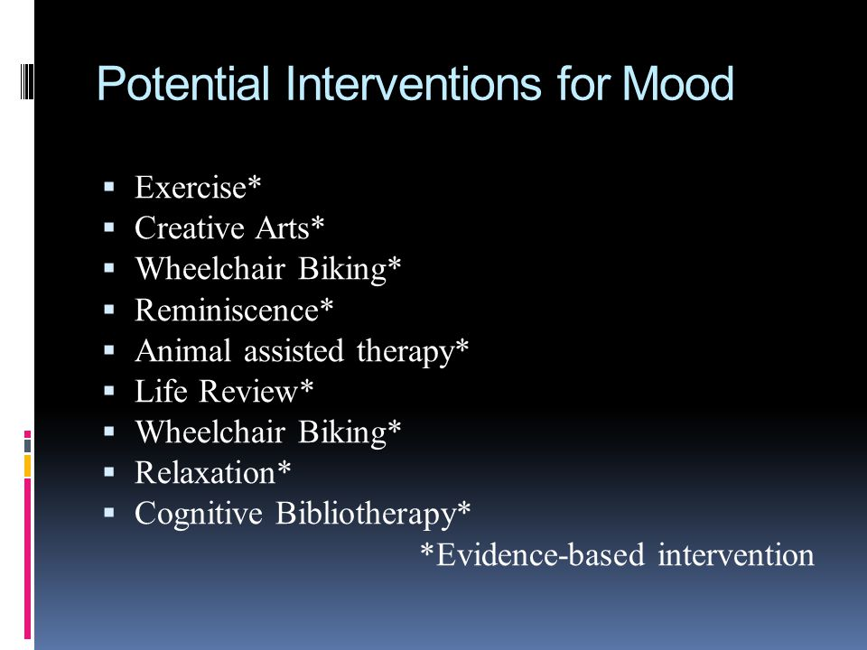 Potential Interventions for Mood