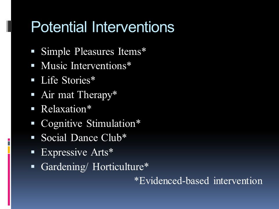 Potential Interventions