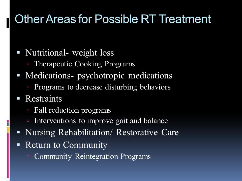 Other Areas for Possible RT Treatment