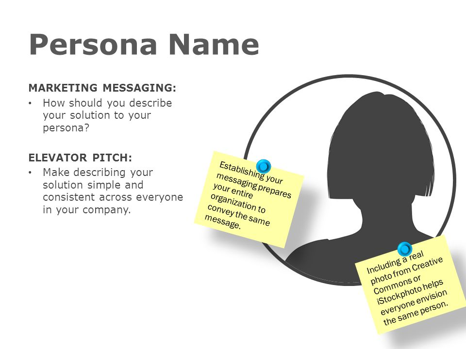 Persona Name MARKETING MESSAGING: