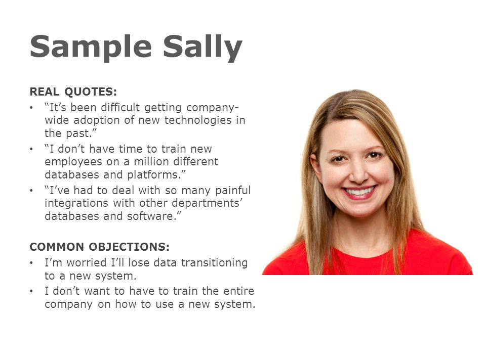 Sample Sally REAL QUOTES: