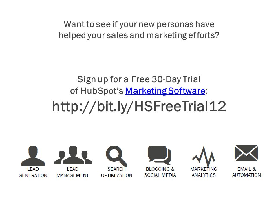 Want to see if your new personas have helped your sales and marketing efforts