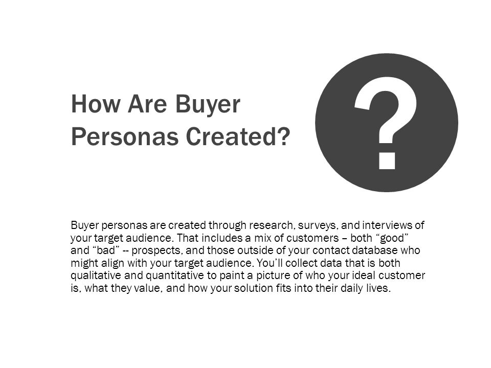 How Are Buyer Personas Created