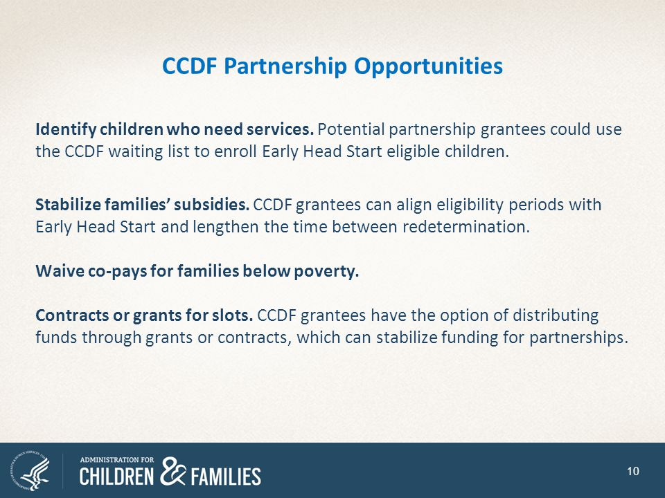 CCDF Partnership Opportunities