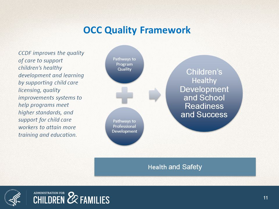 OCC Quality Framework Health and Safety