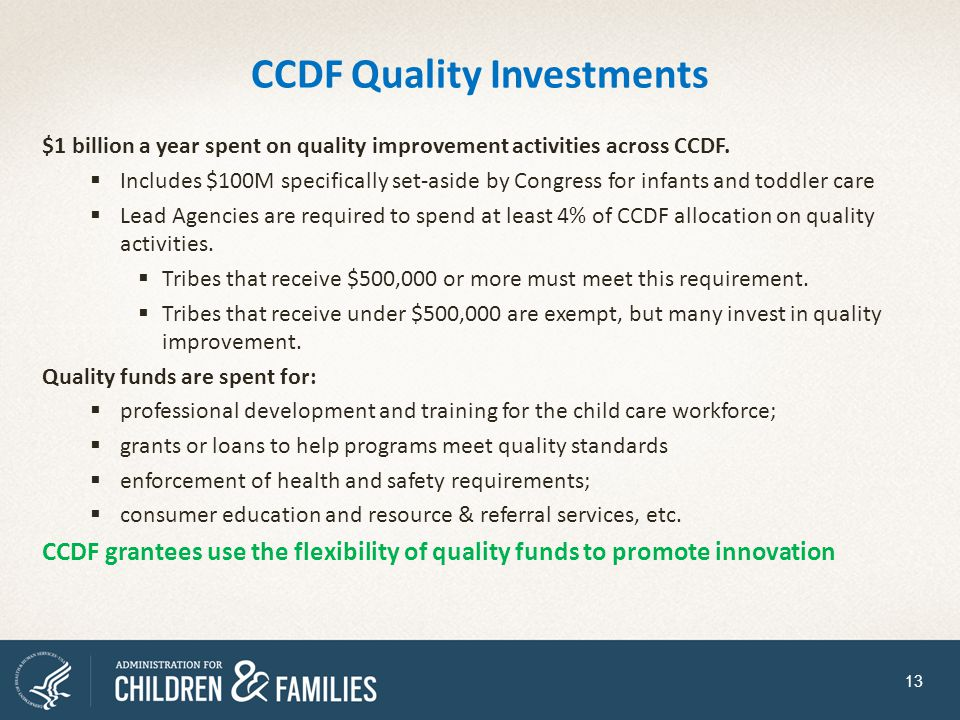 CCDF Quality Investments