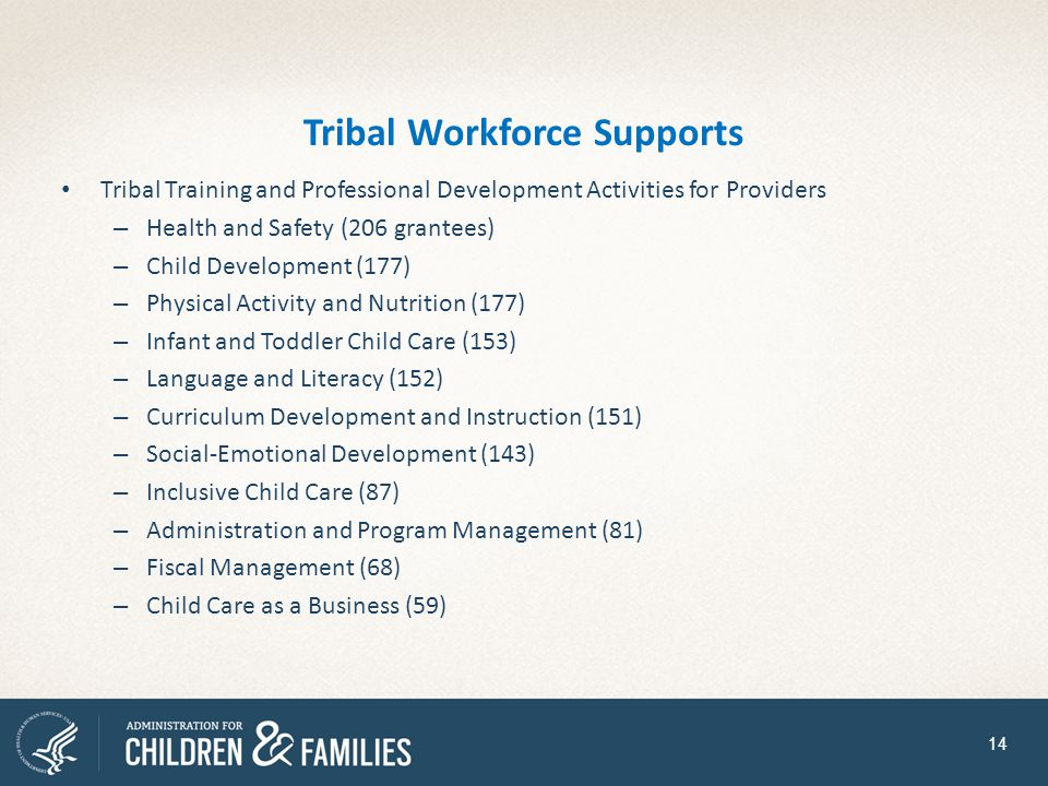 Tribal Workforce Supports