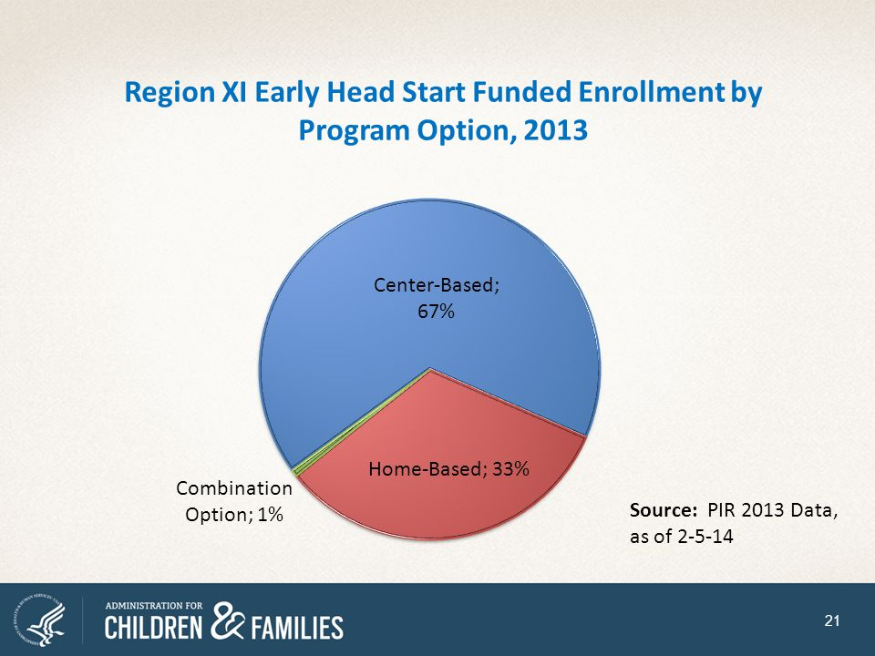 Region XI Early Head Start Funded Enrollment by Program Option, 2013