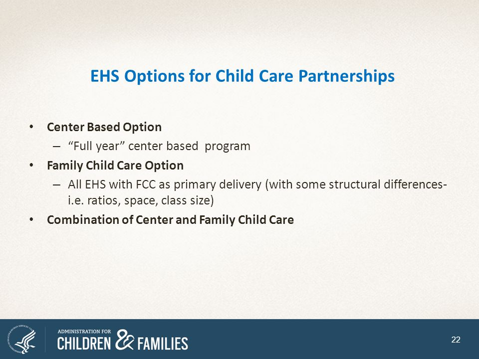 EHS Options for Child Care Partnerships