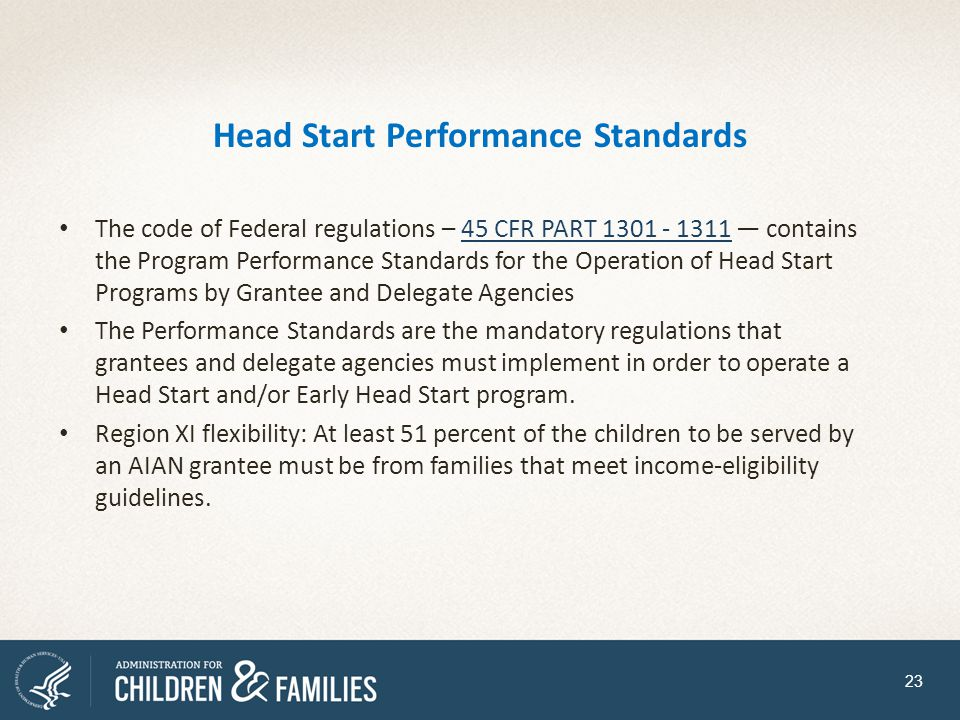 Head Start Performance Standards